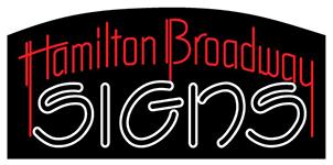 Hamilton Broadway Signs Logo